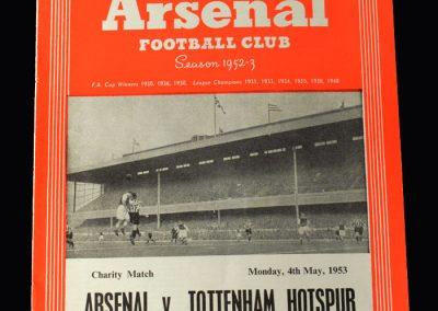 Arsenal v Spurs 04.05.1953 (Friendly)