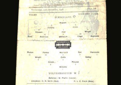 Sunderland v Wolves 25.12.1946