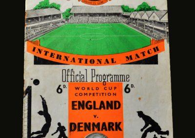 England v Denmark 05.12.1956