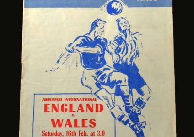 England v Wales 16.02.1957 (Amateur)