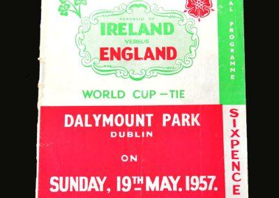 England v Ireland 19.05.1957