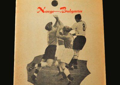 Norway v Bulgaria 22.05.1957