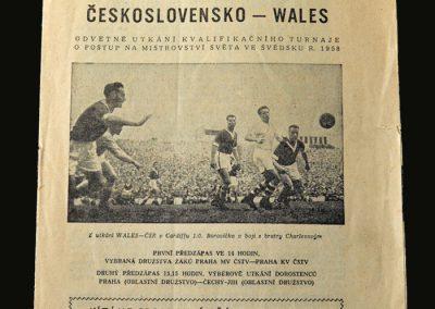 Czechoslovakia v Wales 26.05.1957