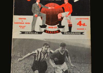 Man Utd v Sheff Wed 15.09.1956