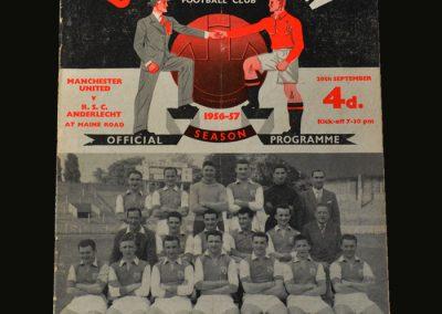 Man Utd v Anderlecht 26.09.1956 (European Cup preliminary round 2nd leg) 10-0!