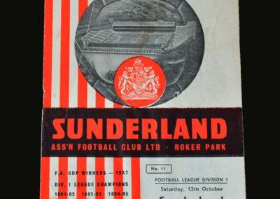 Man Utd v Sunderland 13.10.1956