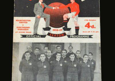 Man Utd v Borussia Dortmund 17.10.1956 (European Cup Round 1 1st Leg)