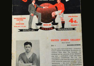 Man Utd v Everton 20.10.1956