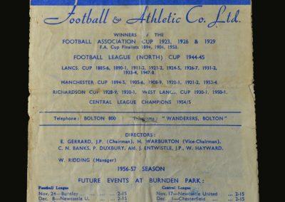 Man Utd v Bolton 10.11.1956