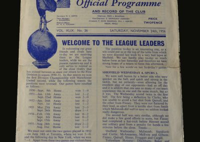 Man Utd v Spurs 24.11.1956