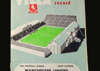 Man Utd v Villa 08.12.1956