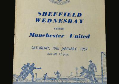 Man Utd v Sheff Wed 19.01.1957