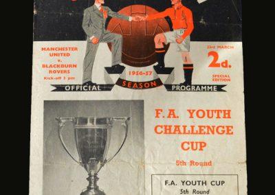 Man Utd v Blackburn 23.03.1957 (FA Youth Cup 5th Round)