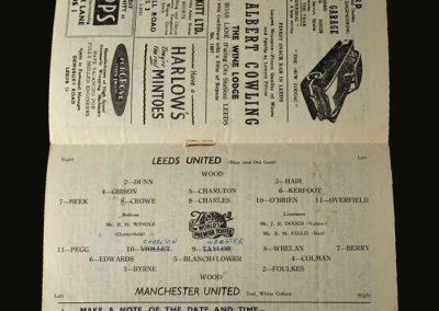 Man Utd v Leeds 30.03.1957