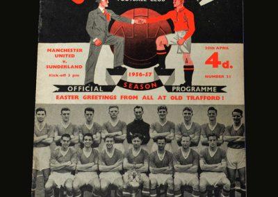 Man Utd v Sunderland 20.04.1957