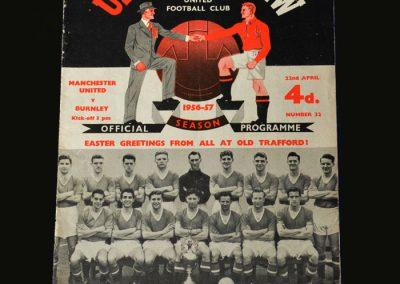 Man Utd v Burnley 22.04.1957