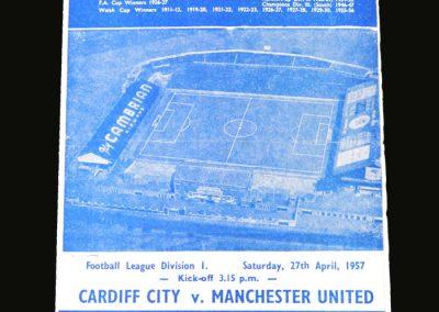 Man Utd v Cardiff City 27.04.1957