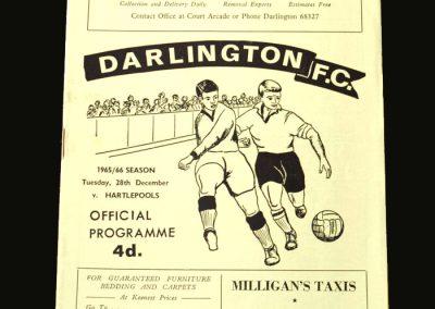 Darlington v Hartlepools 28.12.1965 (Local Derby)