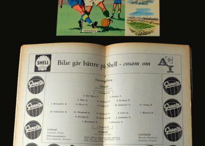Sweden V Mexico 08.06.1958