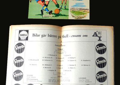 Sweden v Wales 15.06.1958