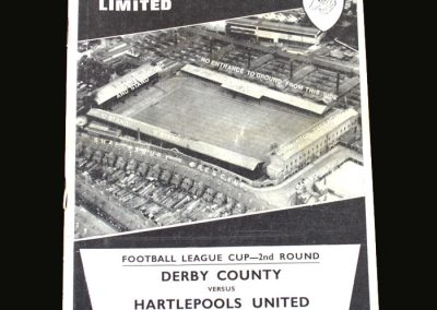 Derby v Hartlepools 13.09.1967 (League Cup 2nd Round)
