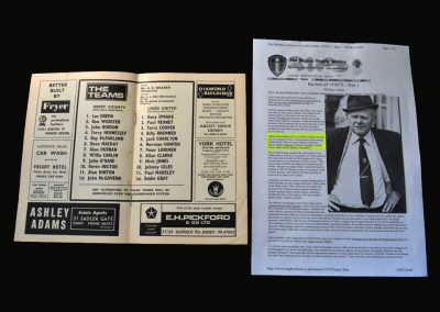Derby v Leeds 30.03.1970 (Leeds field a reserve team, lose 4-1, get fined £5000 & still miss out on everything)