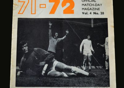 Wolves v Leeds 08.05.1972 (1st Championship - Clough on holiday while Derby win the title)