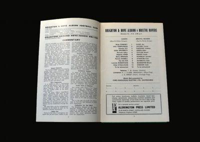 Brighton v Bristol Rovers 01.12.1973 (Lost 8-2)