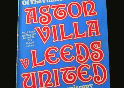Aston Villa v Leeds 07.08.1974 (1st Game)