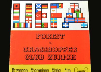 Forest v Grasshoppers 07.03.1979 (European Cup 3rd Round 1st Leg)