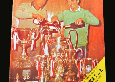 Forest v Valencia 25.11.1980 (European Super Cup 1st Round)