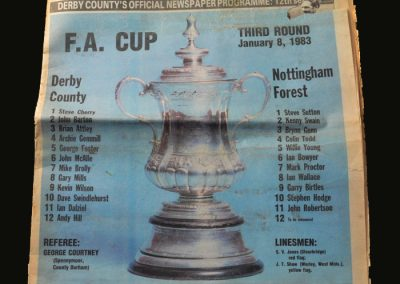 Derby v Forest 08.01.1983 (FA Cup 3rd Round - Taylor v Clough)