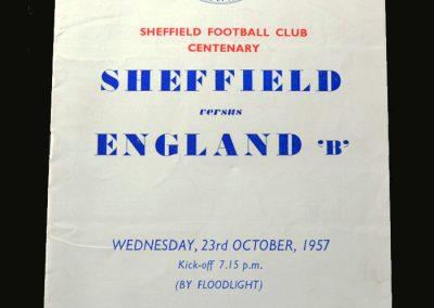 Sheffield v England B 23.10.1957