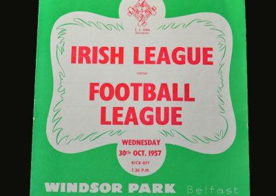 Irish League v English League 30.10.1957