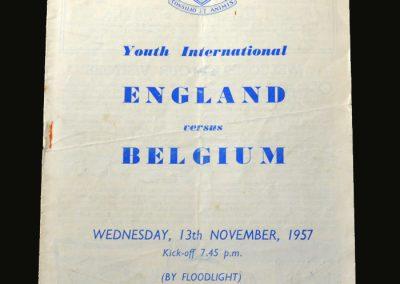 England v Belgium 13.11.1957 (Youth)