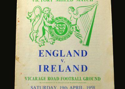 England Schools v Ireland Schools 19.04.1958
