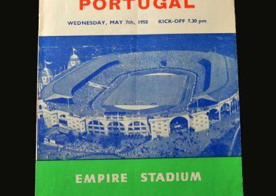 England v Portugal 07.05.1958
