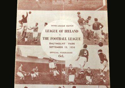 Irish League v English League 19.09.1956