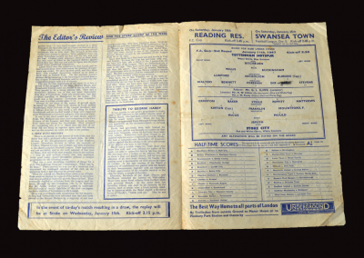 Spurs v Stoke 11.01.1947 (FA Cup 3rd Round)