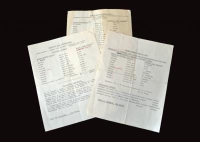 Leyton Orient Reserves v Reading Reserves 05.09.1962 | Leyton Orient Reserves v QPR Reserves 03.10.1962 | Leyton Orient Reserves v Brighton Reserves 28.11.1962