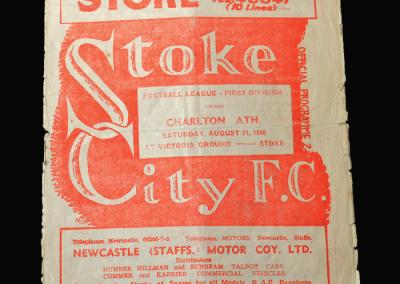 Charlton v Stoke 21.08.1948