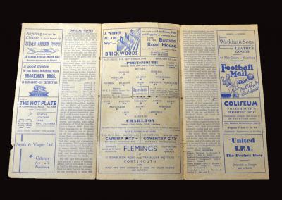 Charlton v Portsmouth 11.09.1948