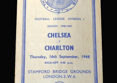 Charlton v Chelsea 16.09.1948