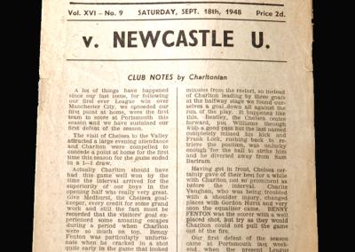 Charlton v Newcastle 18.09.1948