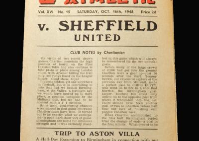 Charlton v Sheff Utd 16.10.1948