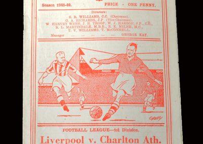 Charlton v Liverpool 20.11.1948