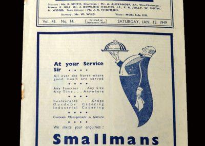 Charlton v Man City 15.01.1949