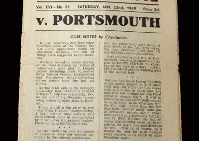 Charlton v Portsmouth 22.01.1949