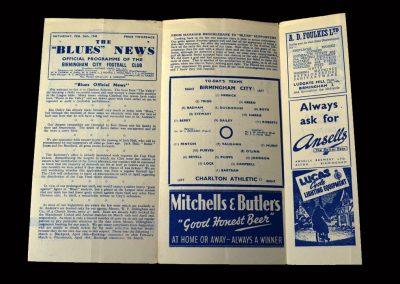 Charlton v Birmingham 26.02.1949