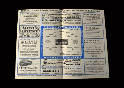 Leicester v Middlesbrough 14.01.1954 (FA Cup 3rd Round)
